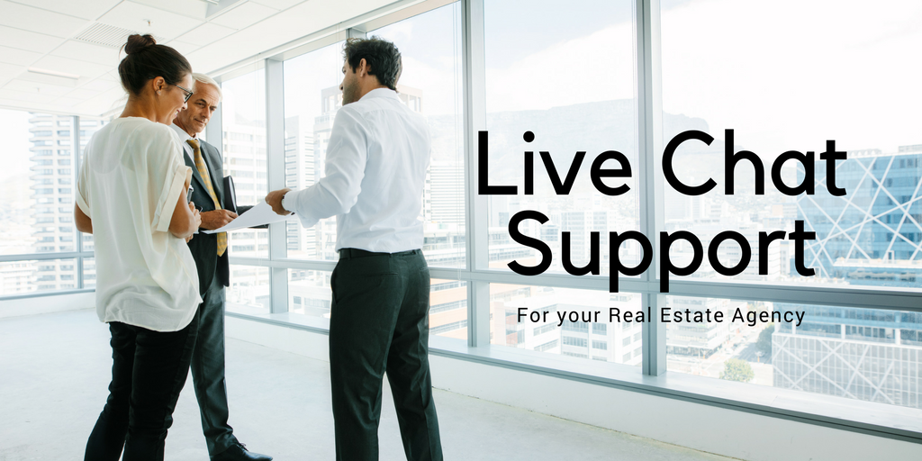 Live chat Support for Real Estate Agency